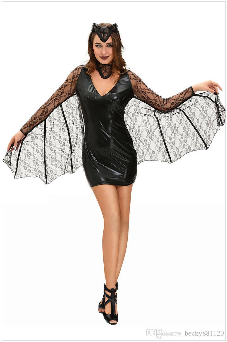womens sexy vampires cosplay moonlight bat halloween costumes for women adult fantasias vampire halloween party wholesale popular halloween themes - Popular Halloween Themes