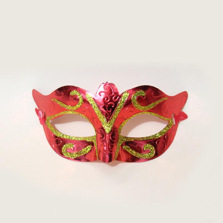 Mens Woman Mask Halloween Masquerade Masks Mardi Gras Venetian Dance Party Face gold shining plated Mask