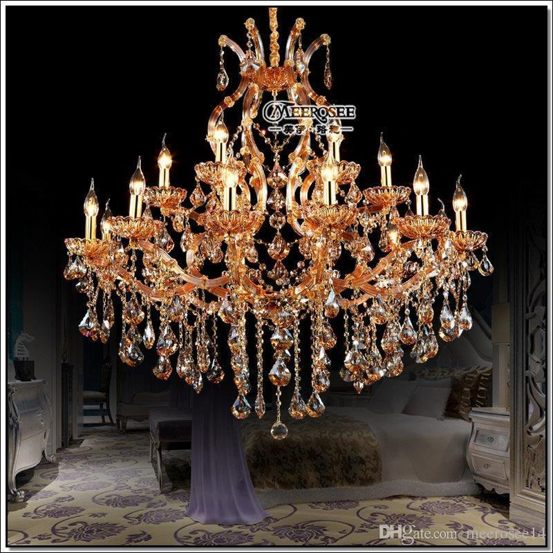 High Quality Maria Theresa Crystal Chandelier Light Large Pendant Lamp Big Amber Prompt Acrylic Victorian