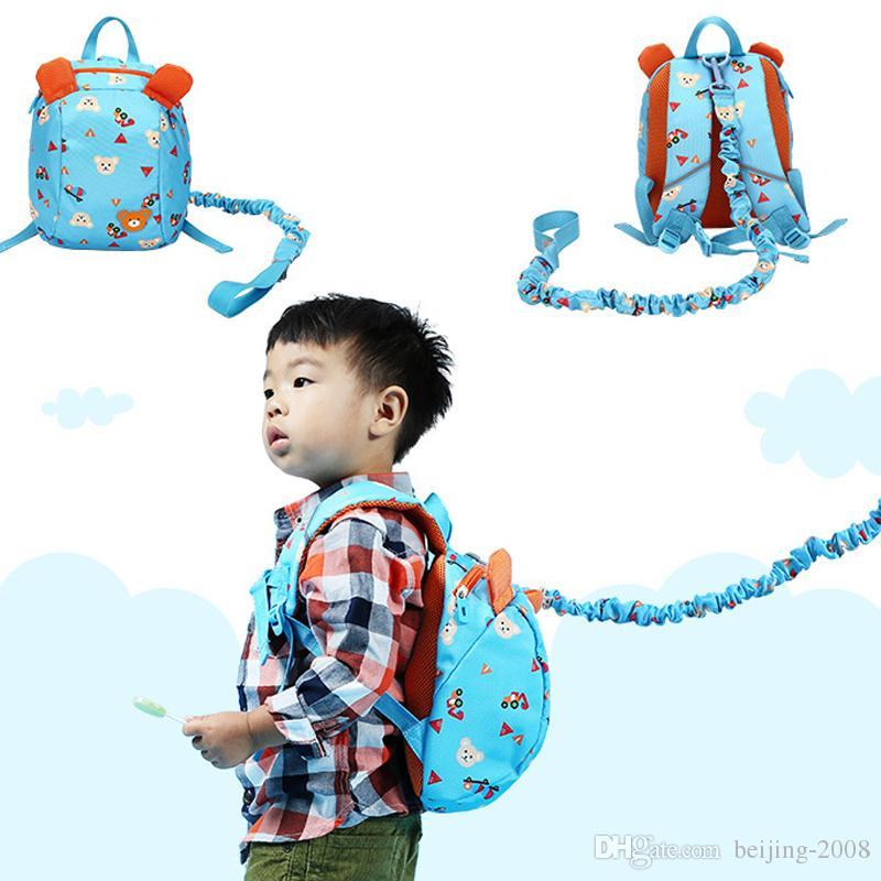 Arnés de seguridad para bebés, guardián para niños Mochilas de dibujos animados Bolso con correa para niños, Alas para caminar anti-perdidas Mochila para niños 010259