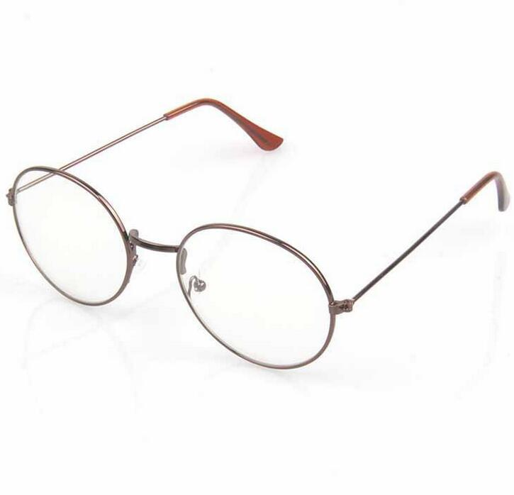a7e19eca34 Compre 2017 Nuevo Diseñador Mujer Gafas Marcos Ópticos De Metal Redondo  Vidrios Marco Claro Lente Eyeware Retro Gafas Antiguas Marcos 10 Unids /  Lote A ...
