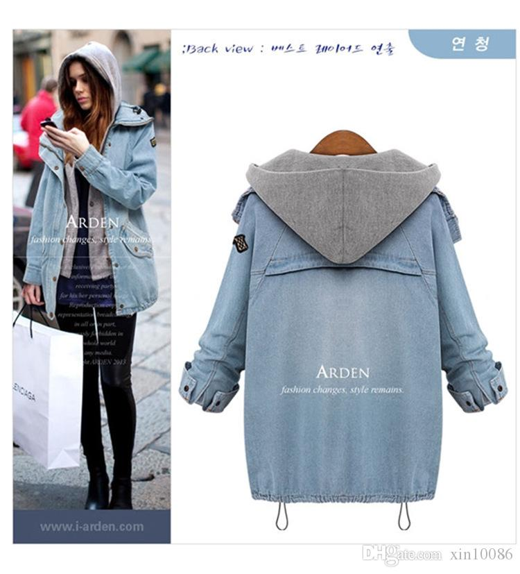 Women Fashion Autumn Winter Two Piece Hooded Vest Casual Loose ...