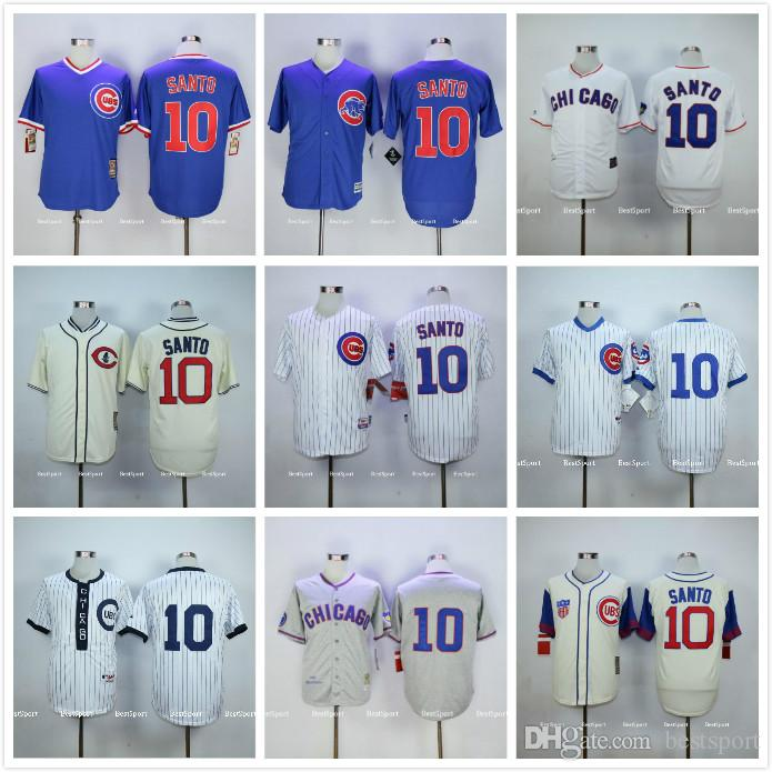 2017 chicago cubs 10 ron santo jersey blue white gray cream stitched 1929 1942 1988 1994 .