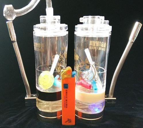 Alcohol lamp comes Acrylic Hookah --glass hookah smoking pipe Glass gongs - oil rigs glass bongs glass hookah smoking pipe