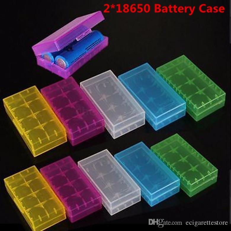4 * 18650 Caso Caixa De Bateria Titular Recipiente De Armazenamento De Plástico Caso Portátil fit 4 * 18650 ou 4 * 18350 CR123A 16340 Bateria DHL Livre