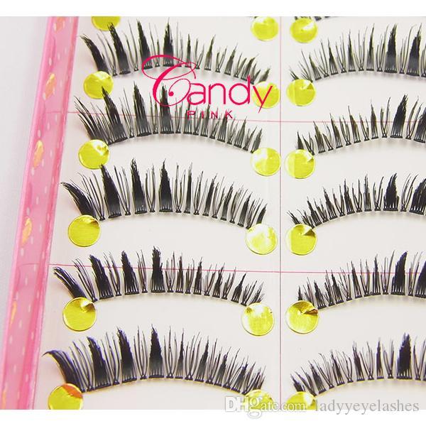 XH-18 10 Paar-weiche natürliche Mode-lange falsche Wimpern-Augen-Wimpern Neue Großhandelslos