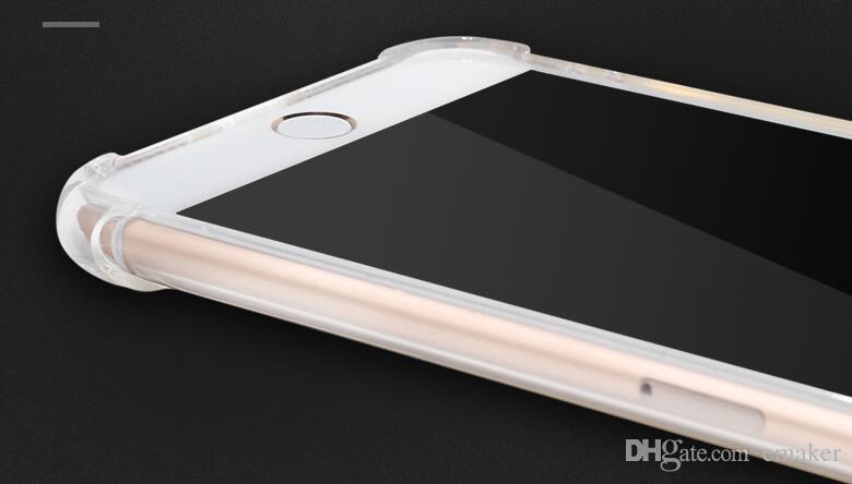 Дешевые Оптовая противоударный прозрачный чехол для iPhone X 8 7 6 6 S Plus мягкий гель ТПУ чехол прозрачная задняя крышка для Samsung S8 S8Plus свободный корабль