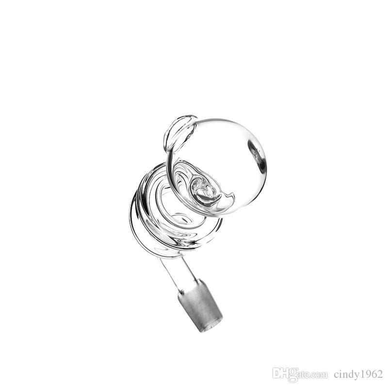 Nouveau style helix nail banger pipe en verre 10mm bruleur a huile male pour verre bongs en verre accessoires