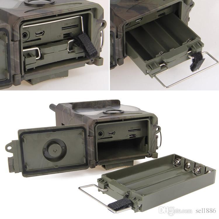 Cámara de caza Trampa fotográfica MMS SMS GSM GPRS 12MP HD Camuflaje salvaje Vedio Cámaras de juegos con 36 unidades LEDs IR