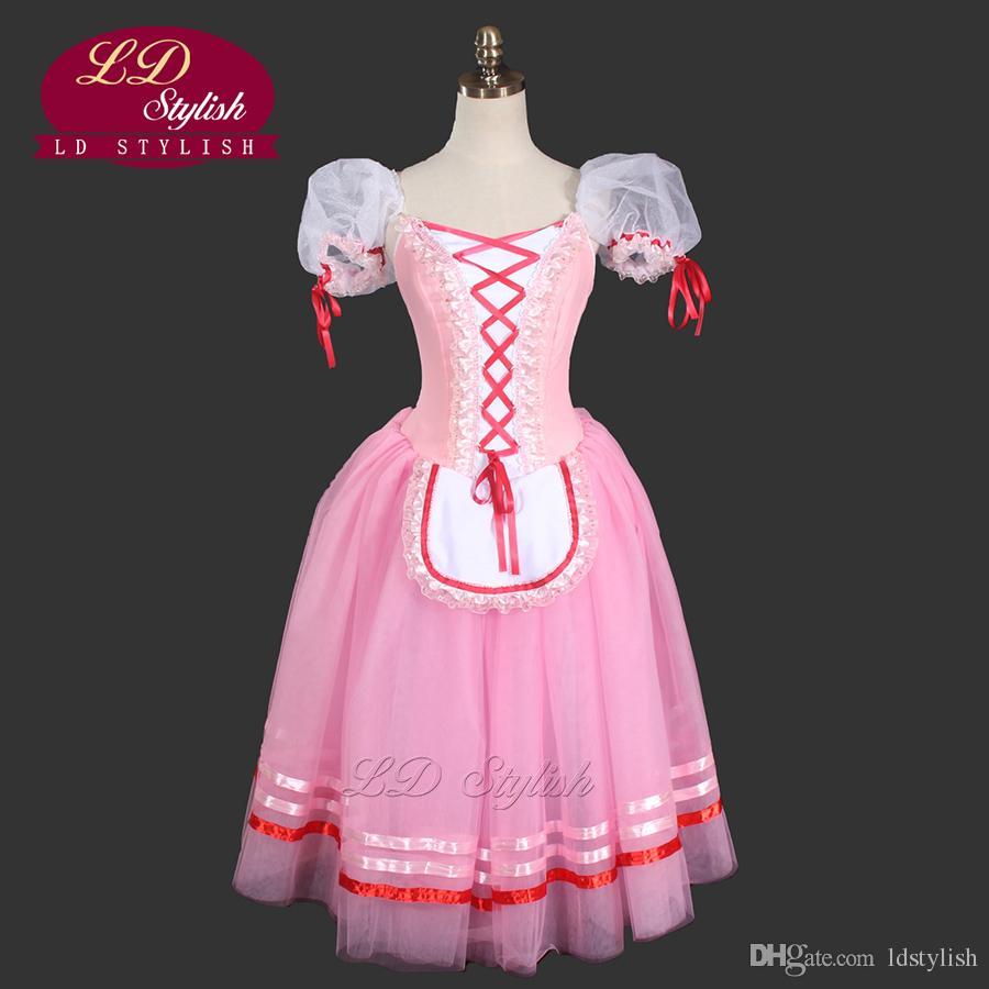 384bd542cb0 Acheter Rose Romantique Ballet Tutu Filles Giselle Robe De Ballet Pour  Enfants Romantique Tutu Robe Adulte Paysanne Tutu Fille Robe LD0003D De   125.63 Du ...