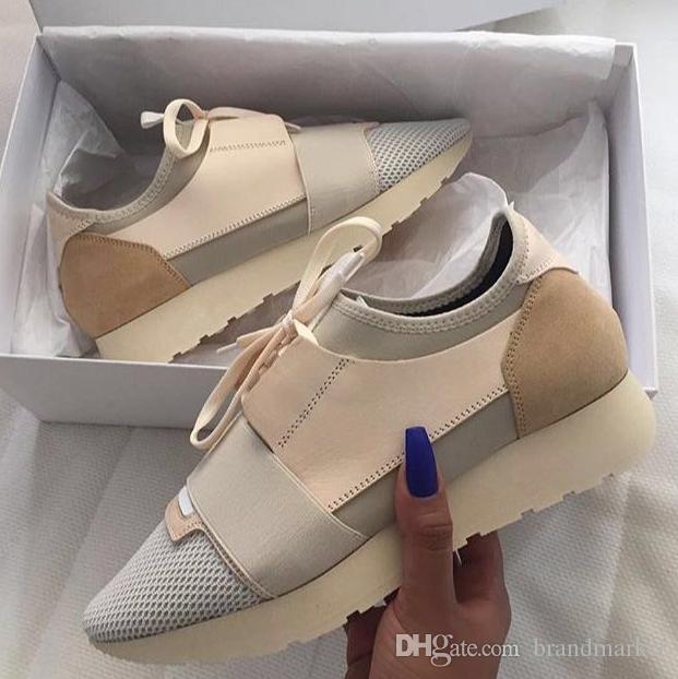 2018 Novo Popular Designer de Alta Qualidade Homem Mulher Moda Low Cut Lace Up Respirável Malha Sapatilha Ao Ar Livre Corrida Corredor Casual Sapato