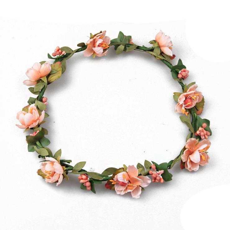 Boêmio Terylene Flor Coroa De Flores Guirlanda Crown Wedding Nupcial Da Dama De Honra Floral Headband BOHO Cocar Headpiece Acessórios Para o Cabelo
