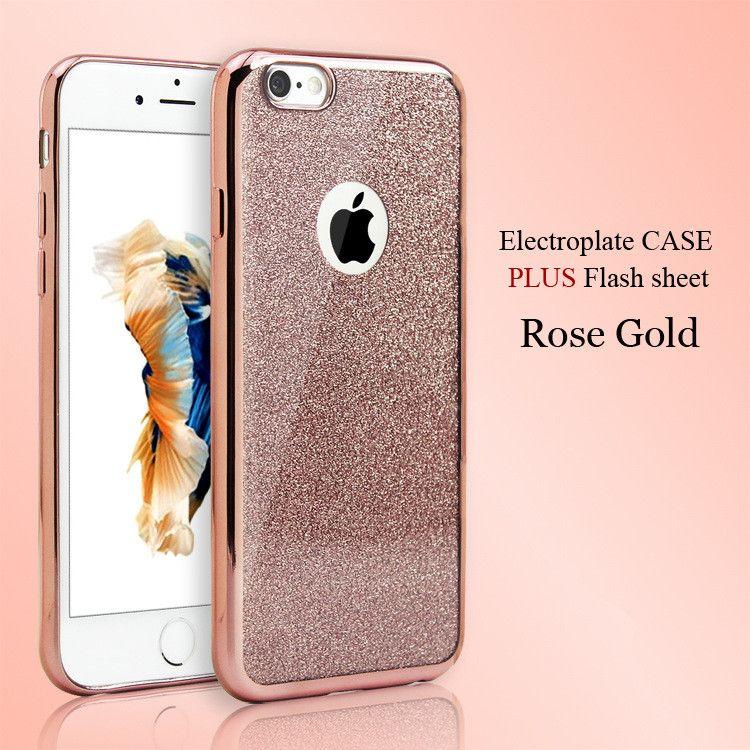 Iphone xs için max xr 8 8 artı lüks bling glitter elektrolizle yumuşak tpu telefon case için iphone x xs 8 7 6 s 6 artı 5 s slim case arka kapak