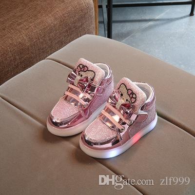 f48fa7c568608 Acheter New Hot Vente Printemps Automne Hiver KT Cats Enfants Mode  Chaussures De Sport Chaussures Pour Enfants Chaussure Enfant Hello Kitty  Filles Bottes De ...