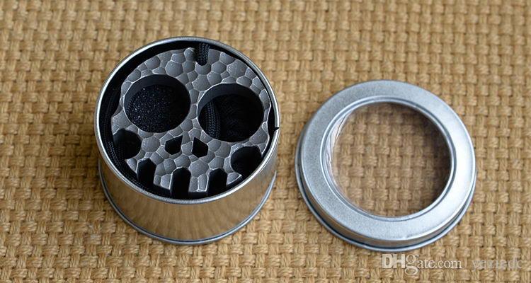 YDC TC4 titanium alloy multi-function self-defense meteorites food skull card outdoor camping hunting pocket EDC tool, wholesale