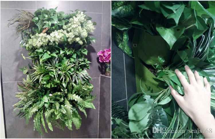 Новый крытый открытый стены висит сад плантатор вертикальный войлок растения горшки растут цветочные сумки 9 карманы плантаторы дома 0.5 м*0.5 м WX-P04