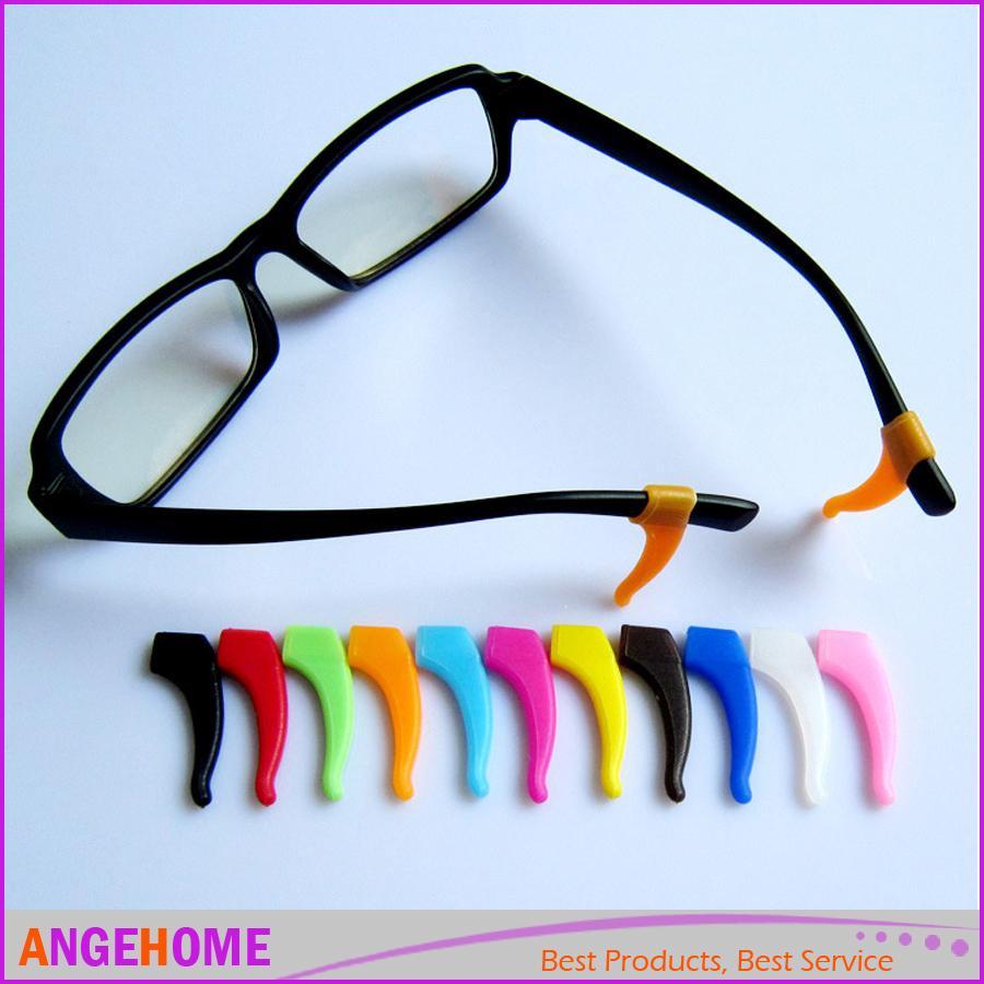 13c2cb3e8963 Soft Silicone Anti Slip Grip Holder Ear Hooks Tip Holder For Sports  Eyeglasses Glasses Sunglasses Spectacle Glasses Accessories Mens Rimless  Glasses Quality ...