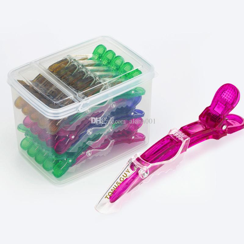 Disponibile! Clip di capelli Plastic Hair Styling Tools Crocodile saloni sezionamento a pinza Hair Styling Cura