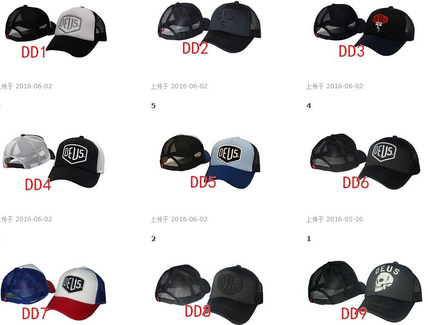 Hot 2016 è sufficiente aggiungere DEUS Snapback Cappelli registrabili cappelli di sport gli uomini Donna Golf cappello nero maglia cappelli di baseball di moda all'aperto Hip Hop