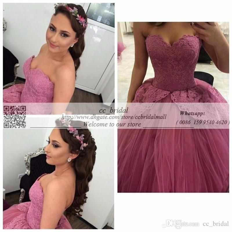 Sweetheart Purple Sweet 16 Dresses 2016 Appliqued Lace Masquerade Ball Gowns New Luxury Backless Quinceanera Gowns Custom Made Pageant Dress