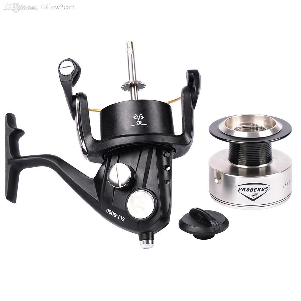 5BB Ball Bearing Spinning Fishing Reel 7000 8000 Series Aluminum Alloy Wheel Gear Ratio 4.0:1 Max Drag 23kg