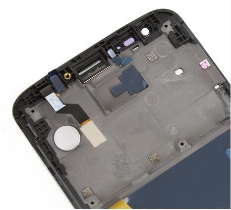 Schwarz für LG G2 VS980 LCD Display Touchscreen Digitizer Assembly + Lünette Rahmen Ersatzteile mit '' verizon''logo