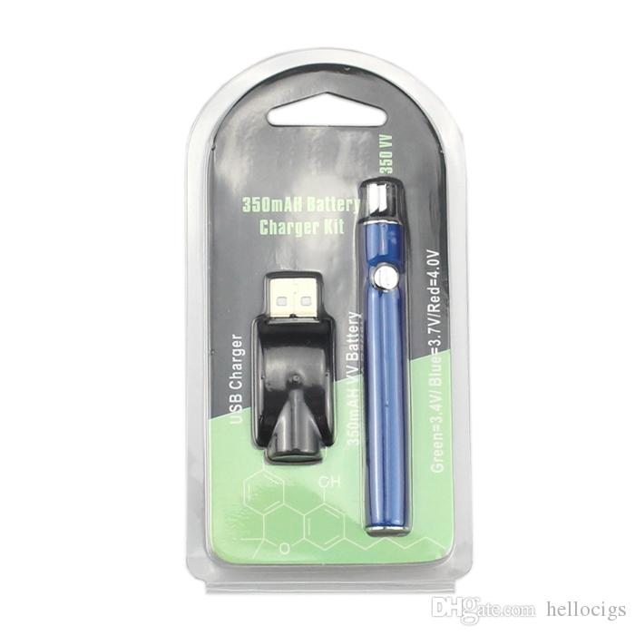 Функция подогрева переменное напряжение VV батареи 510 нить 350mah быстрая блистерная упаковка толстый масляный картридж vape ручка толстый масляный картридж