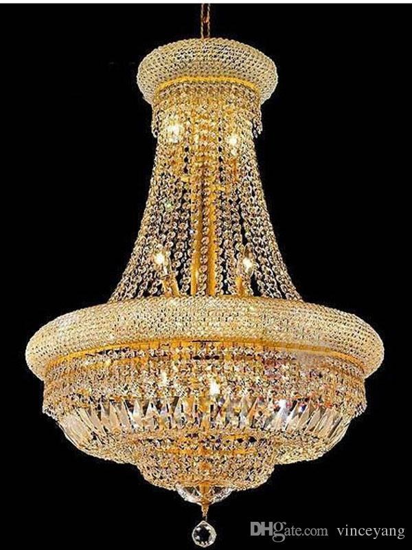 Phube Lighting French Empire Gold Crystal Chandelier Re Chrome Chandeliers Modern Light 71020