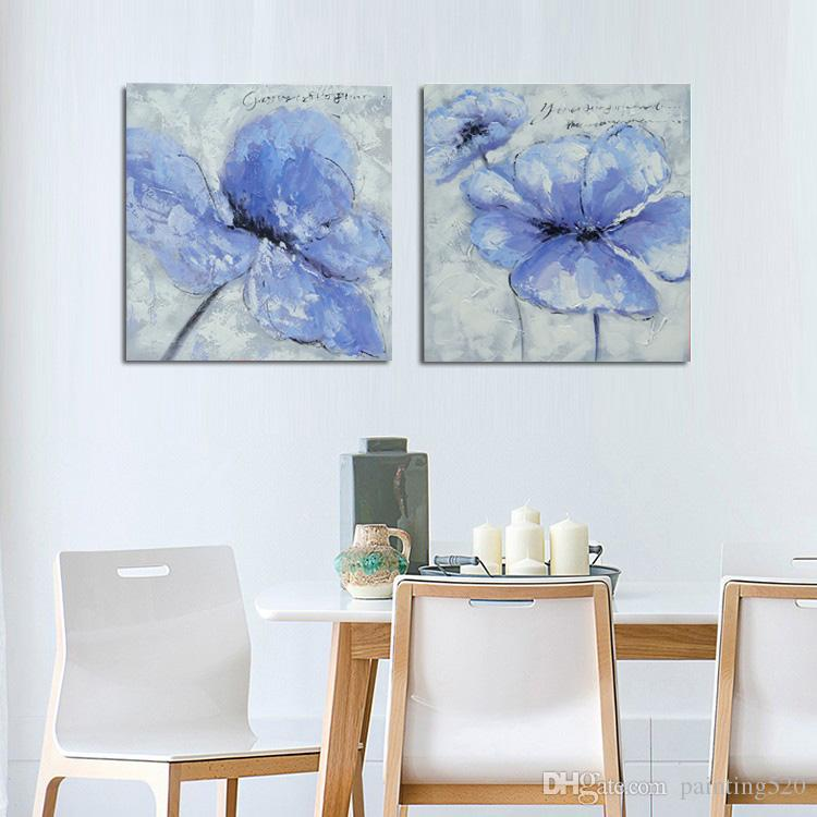 Pure hand painted simple modern home decorative art canvas oil painting high quality color palette thick knife JL401