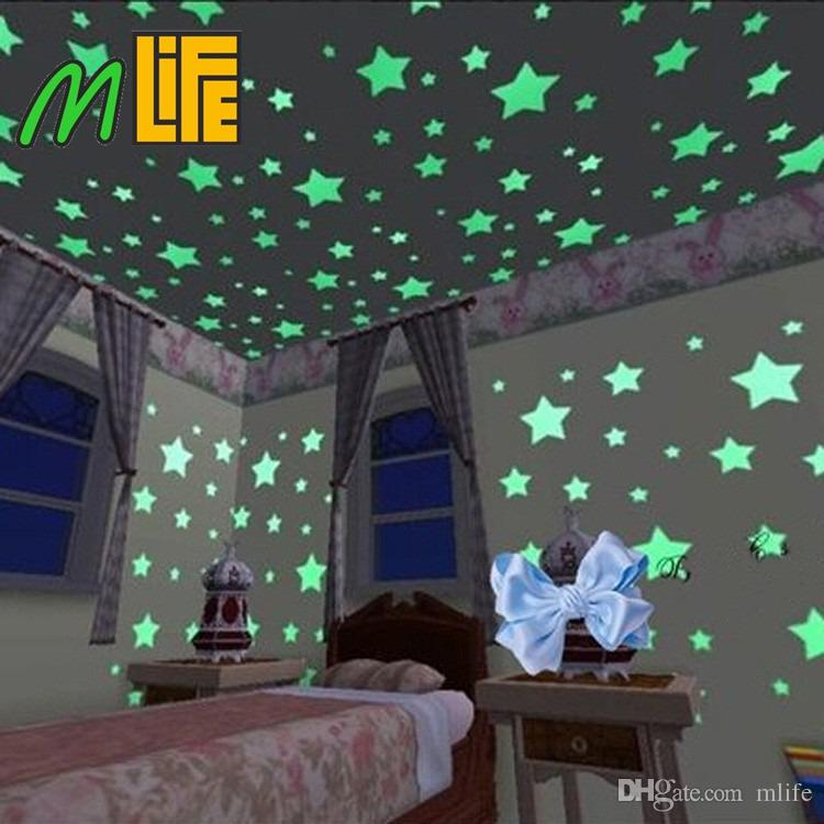 wall decals glow in the dark nursery room color stars luminous