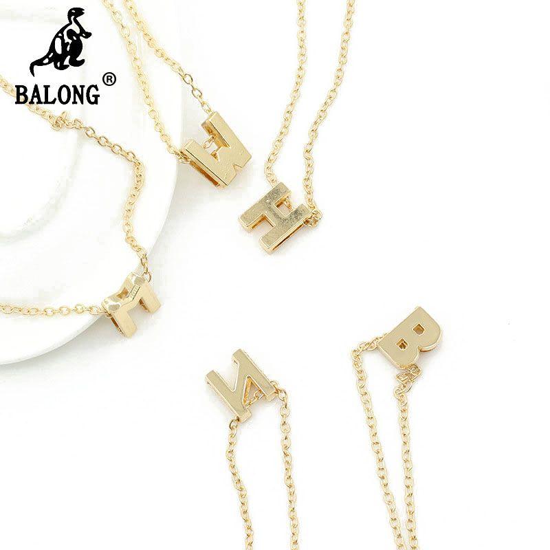 Wholesale Wholesale Fashion Alphabet A Z Women Necklace Creative