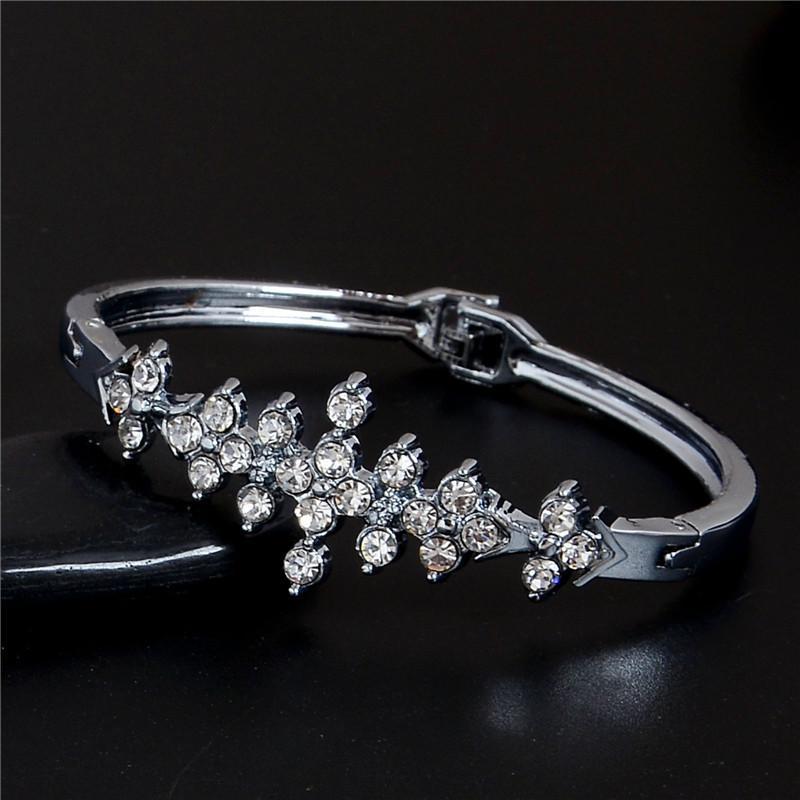 Bling CZ браслеты браслеты посеребренные пряжки свадебный браслет подвески Австрия Кристалл ювелирные изделия горячие продажа браслеты для женщин