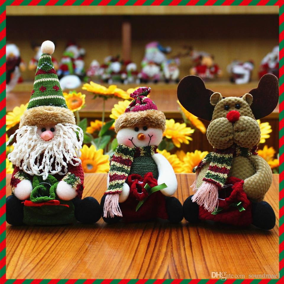 santa claus snow man moose doll christmas decorations xmas tree gadgets ornaments doll christmas gift children gift christmas cloth art christmas outdoor - Outdoor Moose Christmas Decorations