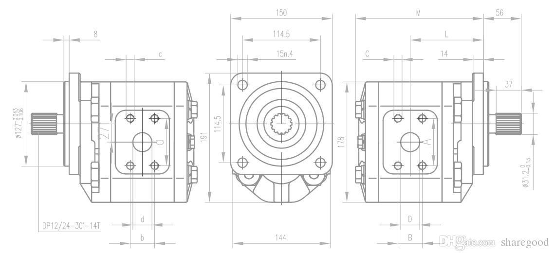 펌프 CBN 40cc 변위 유압 기어 펌프 핫 도매업 유압 기계 데크 크레인 도매 고품질