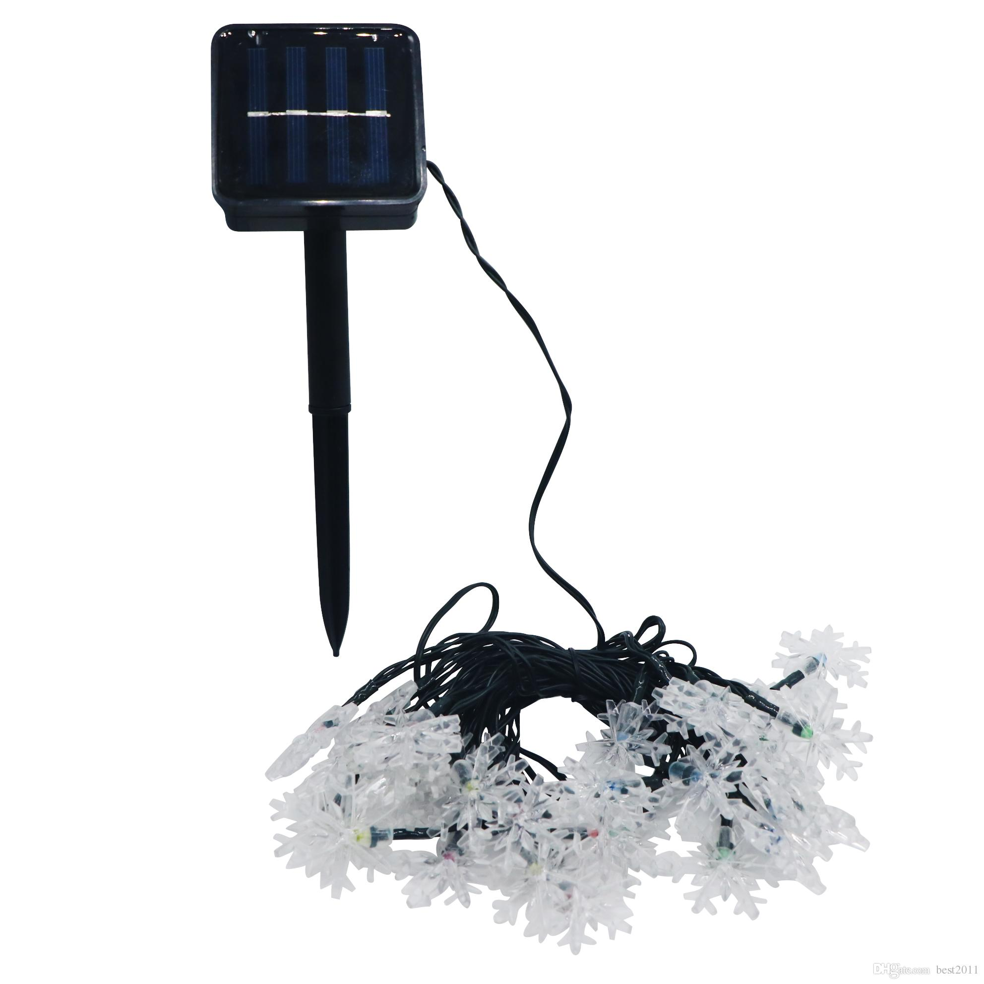 Solar Powered Outdoor String Lights Snowflake 20 Leds Starry