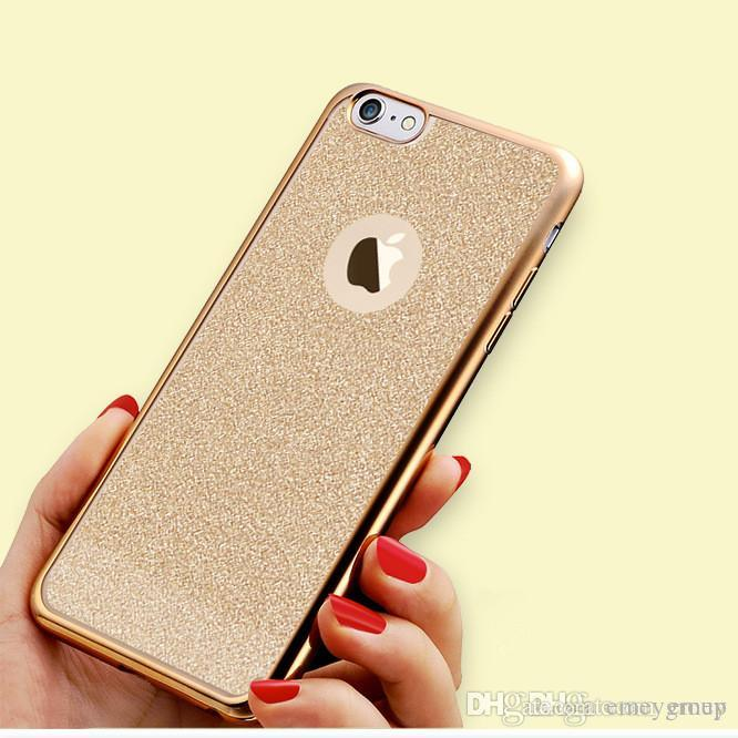 Luxury Ultra Thin Flash Powder Back Cover Plating Soft TPU Silicon Case For  IPhone Xs Max X Xr 6S 7 8 Plus Cover for Samsung S7 Edge S8 Plus Cases for 5  ... ac2ce376cc
