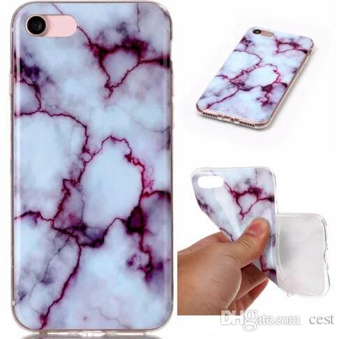 Estuche suave de TPU IMD de mármol de piedra de mármol de piedra de 2017 modas para Galaxy S8 / Edge / S7 / Edge / S6 / Grand Prime G530 / J5 / 7/3 J310 / 510/710 / S5 Gel cubre la piel