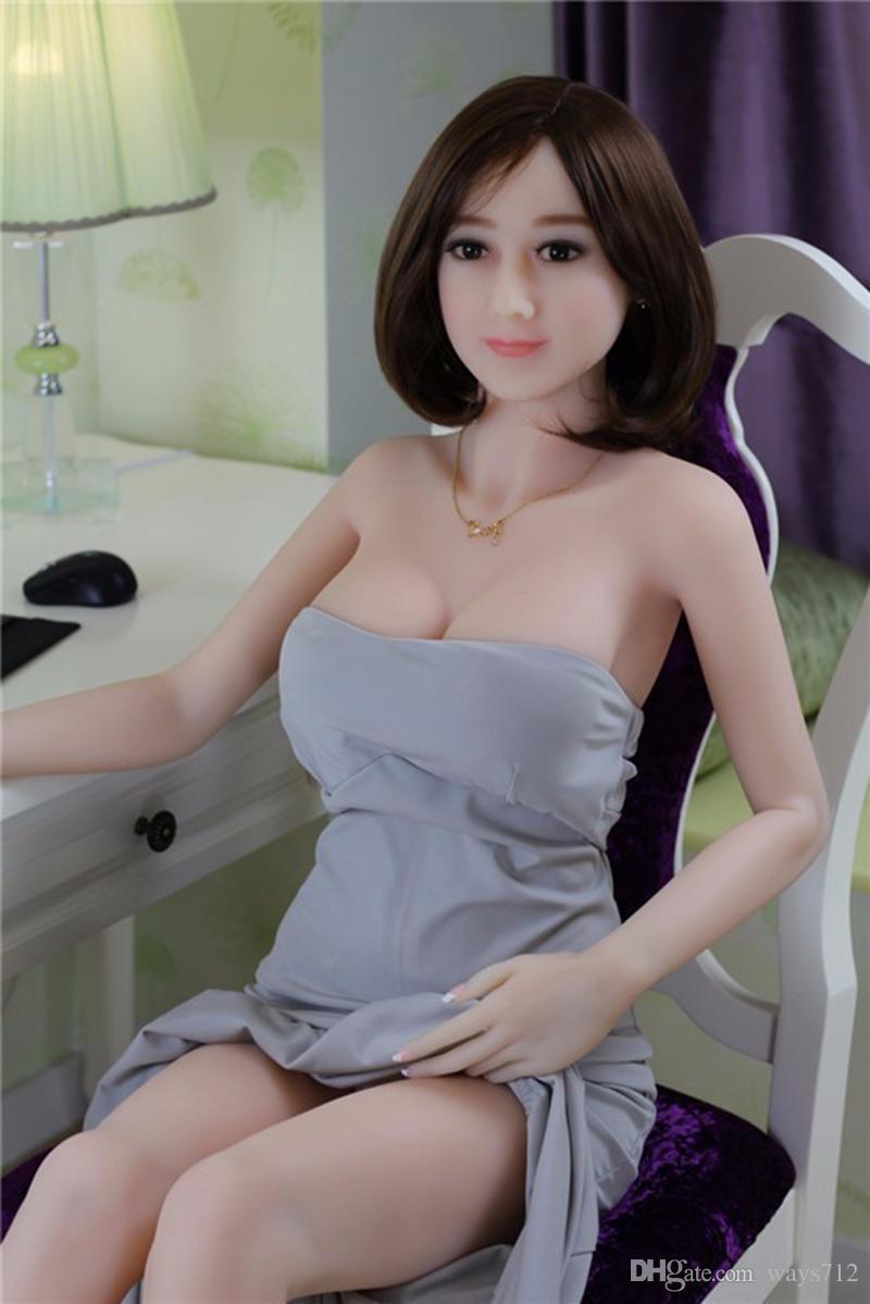 158CM Full Size Flesh TPE Realistico Plump Slim Love Dolls Realistico Large Seno Sex Doll Sextoys Masturbazione maschile 158CM Con Big Hiips