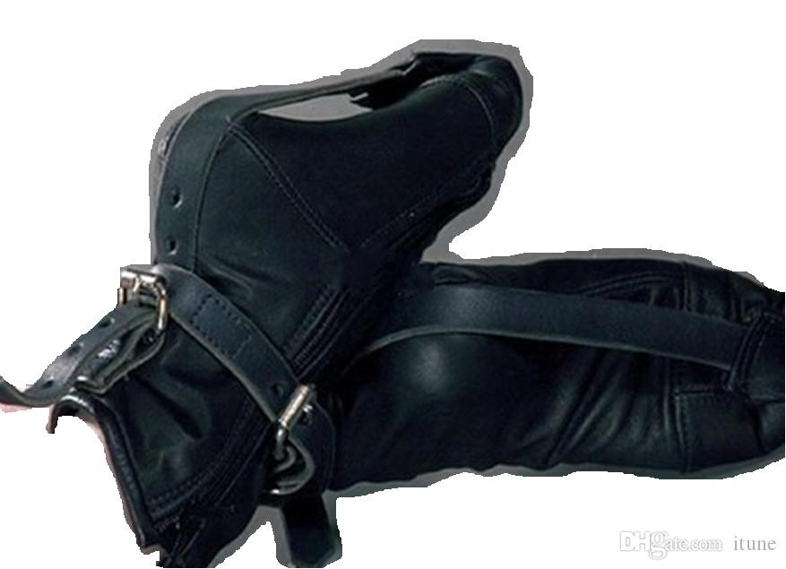 Full Feet Leather Bondage Combina combinaciones Adult Sex Games yoy Fetish Foot Restraint Shoes
