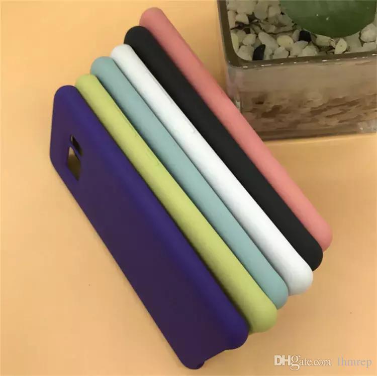 Funda de silicona original para Samsung Galaxy S8 S8 Plus con carcasa de teléfono 1: 1, logo original color + caja