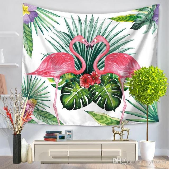 Tropical Leaf Flamingo Wall Hanging Tapestry decoracaol table cloth decorative wall tapestries Sofa Chair Cover Beach Towel Throw Blanket