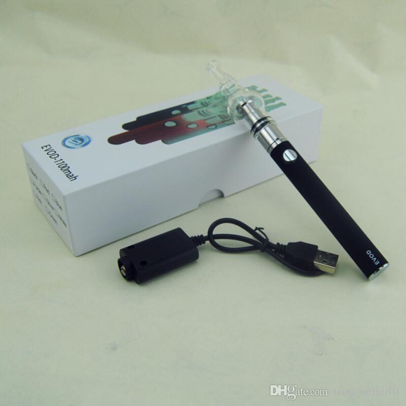 Ecigarette eGo EVOD Стартовый комплект аккумуляторов со стеклом ecig globle с двумя змеевиками воск сухой травы Травяной испаритель Распылитель бак vape ручки коробка мод комплекты