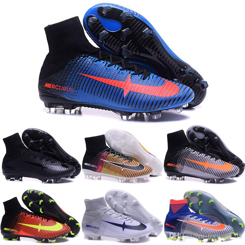 a88d5dd8b Wholesale 2016 Cheap Football Shoes Men Mercurial Superfly V FG ...