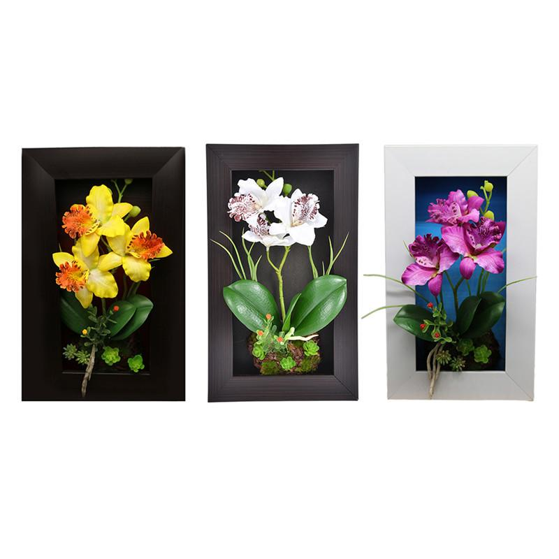 2018 3d Imitation Frame Shape Wall Hanging Artificial Flowers Plants ...