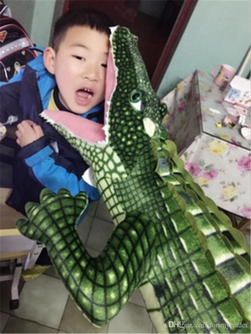 Dorimytrader Pop Giant Stuffed Animal Crocodile Plush Toy Soft Big Realistic Alligator Animals Doll Gift for Children DY61871