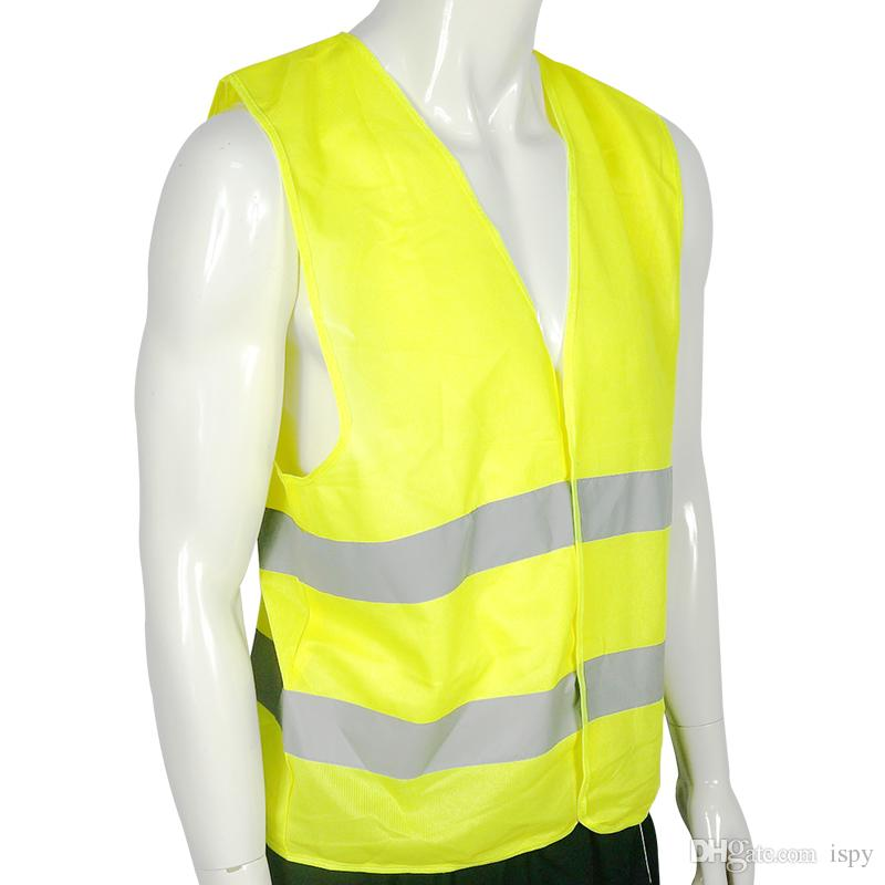 Free DHL High Visibility Security Safety Vest Jacket Reflective Strips Work Wear Uniforms Clothing