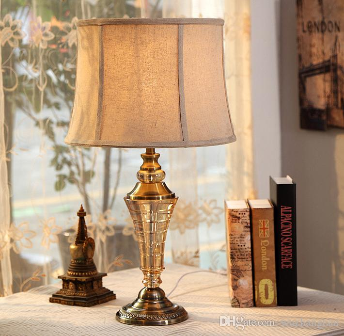 2018 Luxary Classic Bedroom Desk Table Light Big Size Foyer European Table  Lamp Tall Crystal Table Light Bedside Hotel Table Lamp From Wuzhangtsai, ...