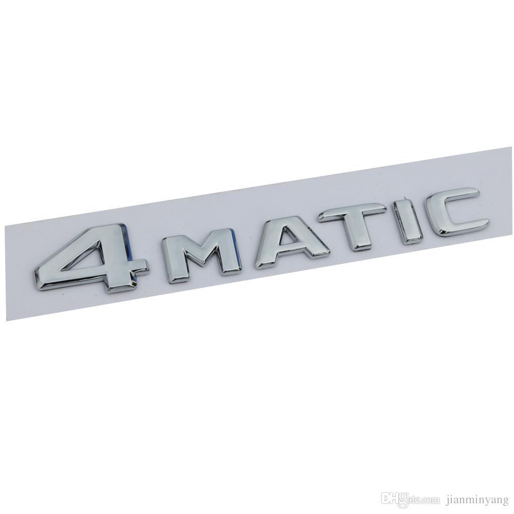 Chrom Kofferraum Briefe Nummer Emblem Aufkleber Für Mercedes Benz 4matic 2017