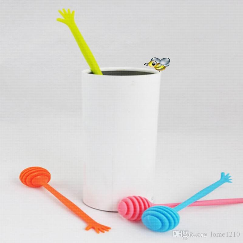 Mutfak aletleri Bal Kaşık Palmiye Şekli Bal Plastik Çubuk karıştırma Çubuk Uzunluğu 17.5cm
