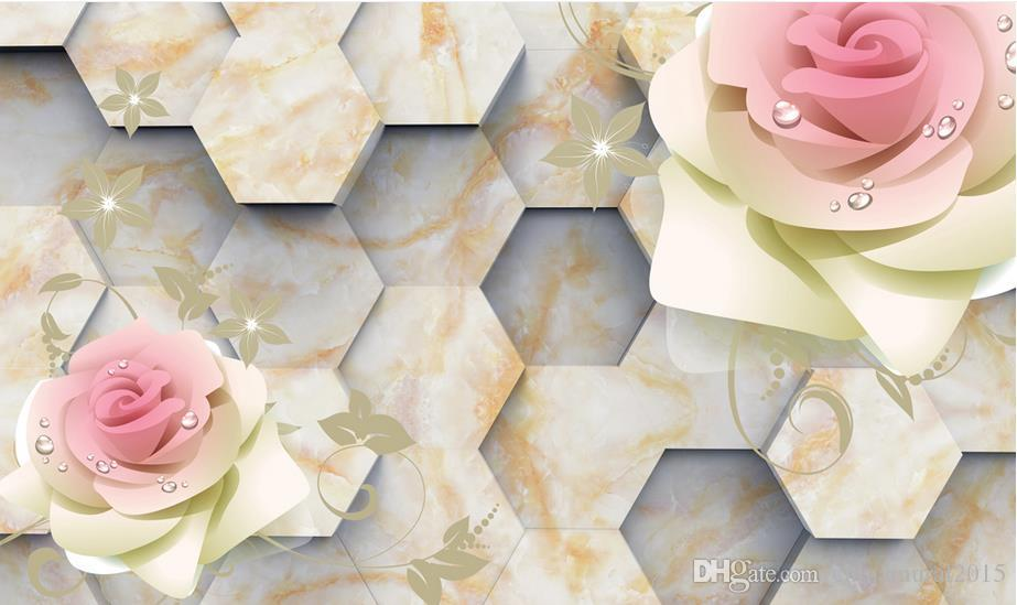 wall papers home decor living room Water flowing stones stone three-dimensional 3d wallpaper brick
